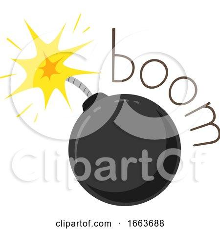 Bomb Onomatopoeia Sound Boom Illustration by BNP Design Studio