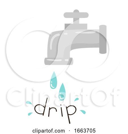 Water Onomatopoeia Sound Drip Illustration by BNP Design Studio