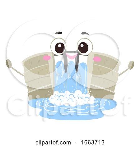 Mascot Dam Illustration by BNP Design Studio