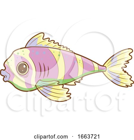 Cute Striped Fish by Pushkin