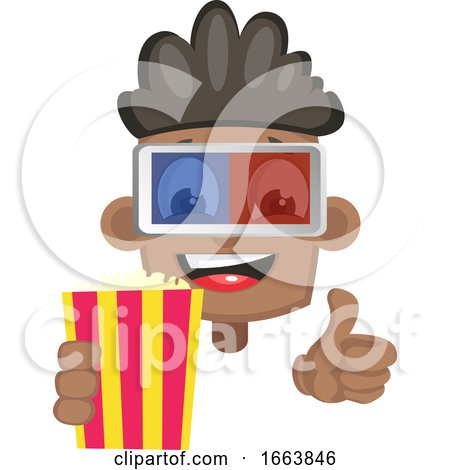 Boy with Popcorn and 3d Glasses by Morphart Creations