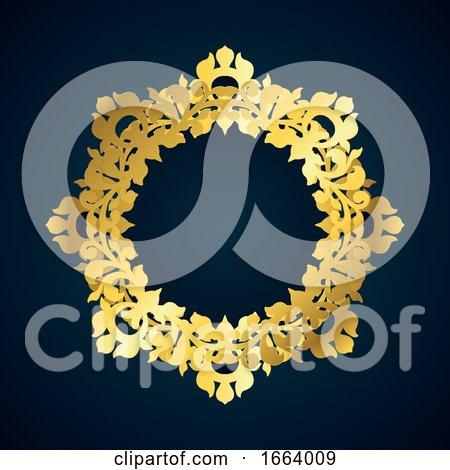 Decorative Gold Border by KJ Pargeter