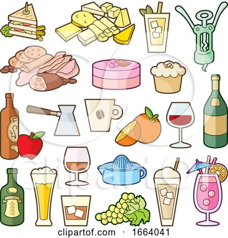 Food Icons by Any Vector