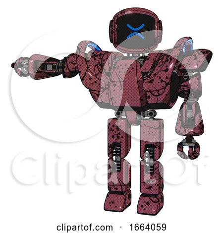 Android Containing Digital Display Head and Wince Symbol Expression and Heavy Upper Chest and Heavy Mech Chest and Battle Mech Chest and Prototype Exoplate Legs. Muavewood Halftone Grunge. by Leo Blanchette