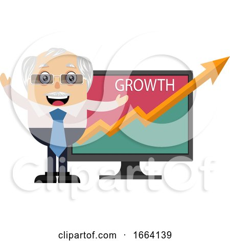 Old Business Man with Growth Analytics by Morphart Creations