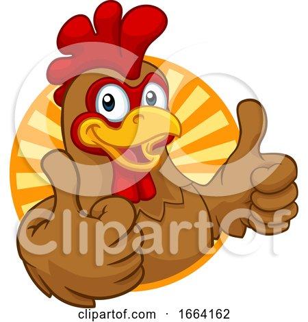 Chicken Cartoon Rooster Cockerel Character Posters, Art Prints