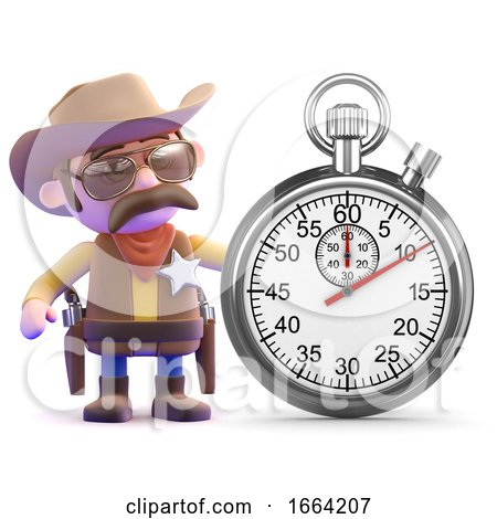 3d Cowboy Sheriff Times the Event by Steve Young