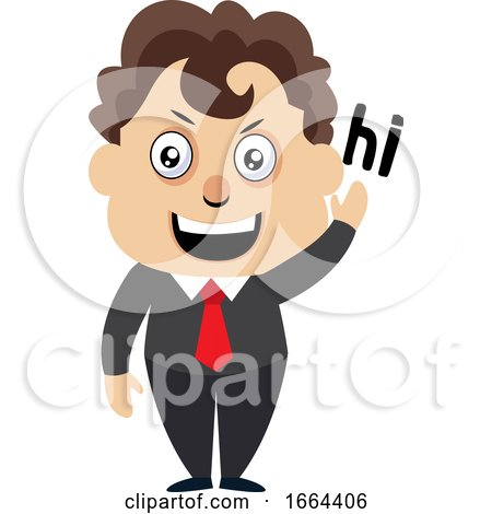 Young Business Man Saying Hi by Morphart Creations