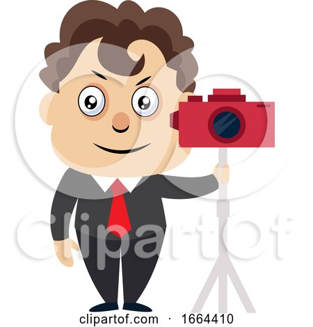 Young Business Man with Camera by Morphart Creations