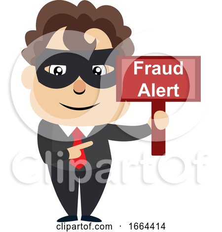 Young Business Man with Fraud Sign by Morphart Creations