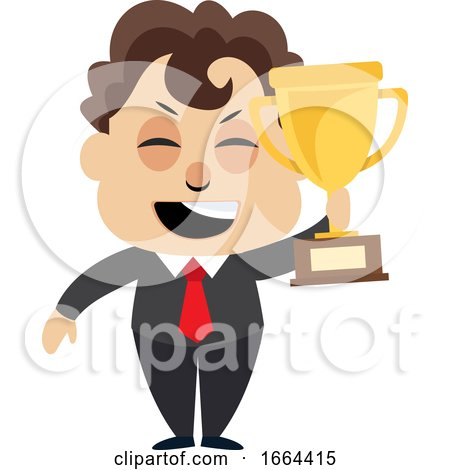 Young Business Man Holding Trophy by Morphart Creations