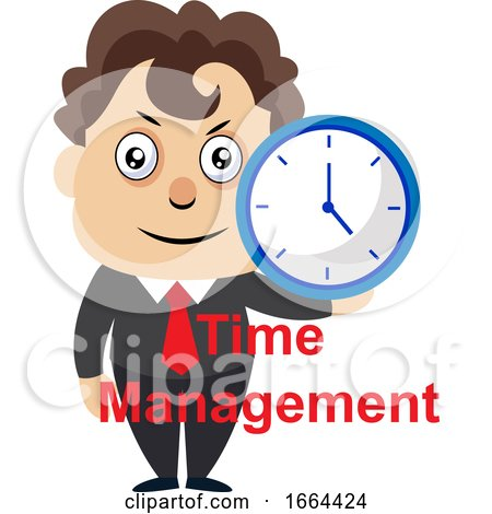 Young Business Man Holding Clock by Morphart Creations