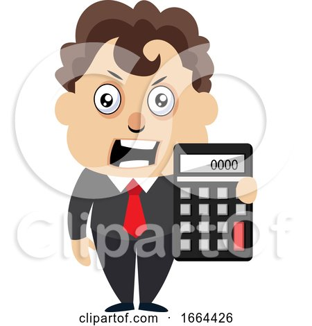Young Business Man with Calculator by Morphart Creations
