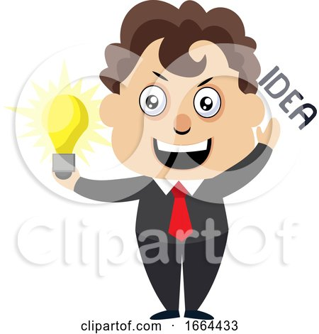 Young Business Man with Lighting Bulb by Morphart Creations