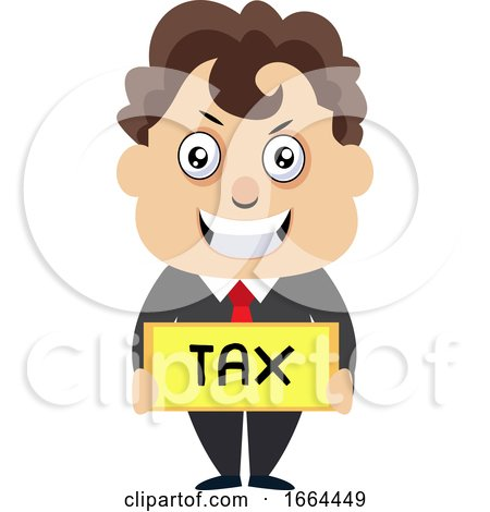 Young Business Man with Tax Sign by Morphart Creations