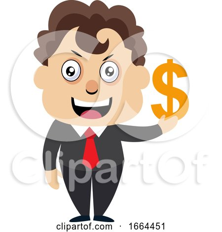 Young Business Man with Dollar Sign by Morphart Creations
