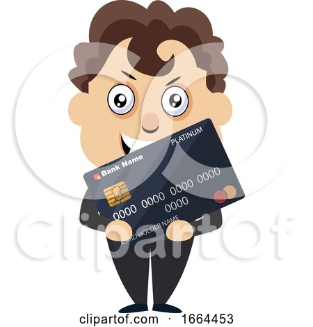 Young Business Man with Debit Card by Morphart Creations
