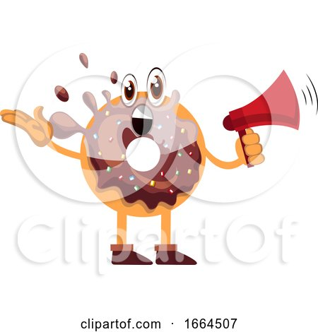 Donut with Megaphone by Morphart Creations