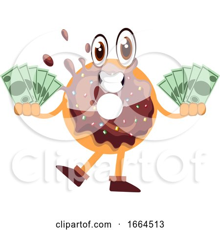 Donut with Money by Morphart Creations