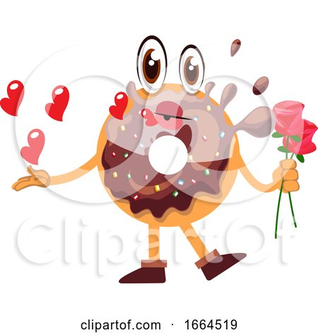 Donut Holding Roses by Morphart Creations