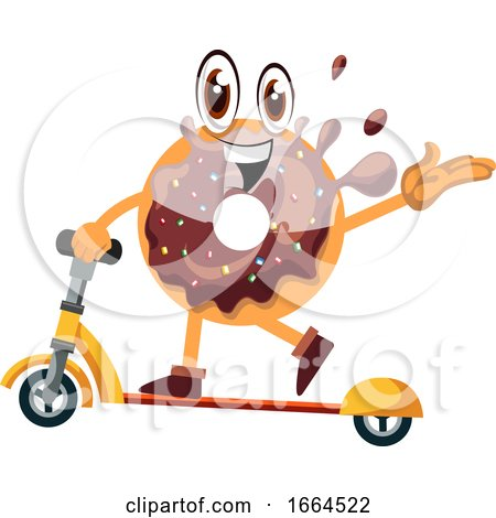 Donut on Scooter by Morphart Creations