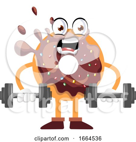 Donut Lifting Weights by Morphart Creations