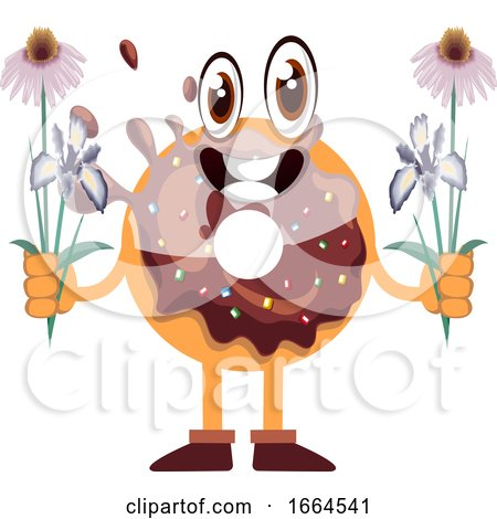 Donut with Flowers by Morphart Creations
