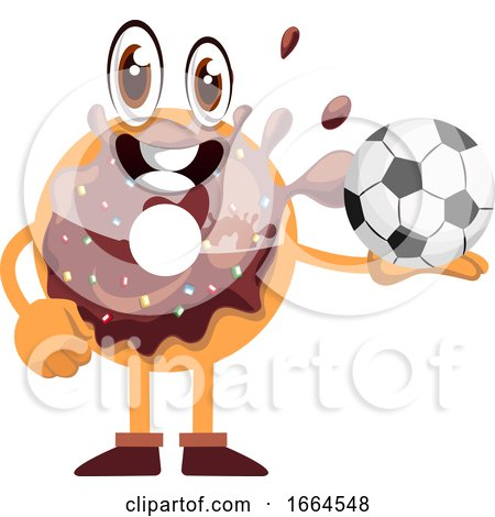 Donut with Football Ball by Morphart Creations