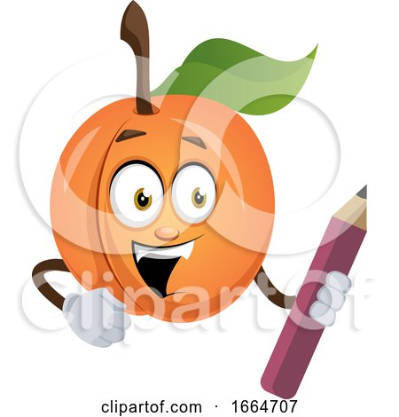 Apricot with Pen by Morphart Creations