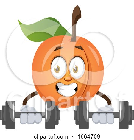Apricot Lifting Weights by Morphart Creations