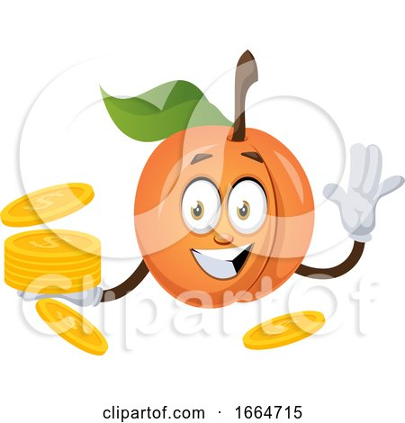 Apricot with Coins by Morphart Creations