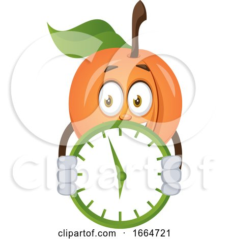 Apricot with Clock by Morphart Creations