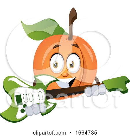 Apricot Playing Guitar by Morphart Creations