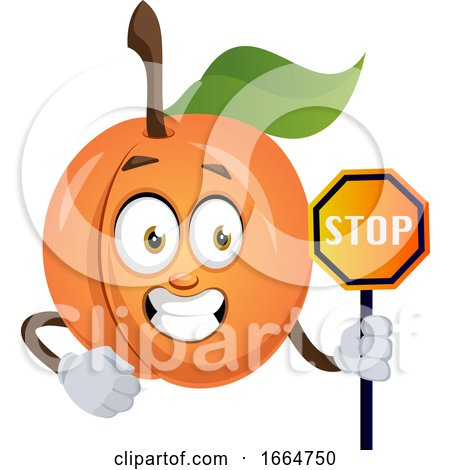Apricot with Stop Sign by Morphart Creations