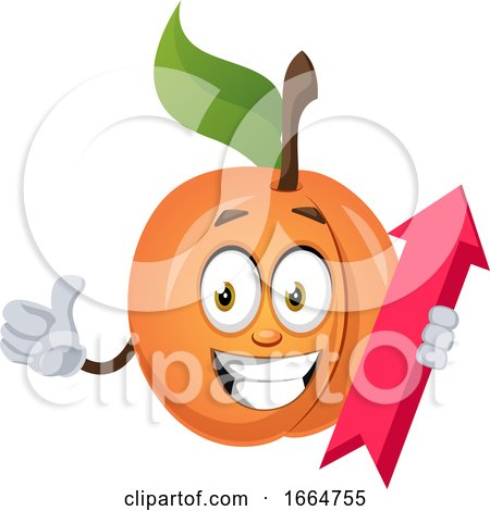 Apricot with Arrow Sign by Morphart Creations