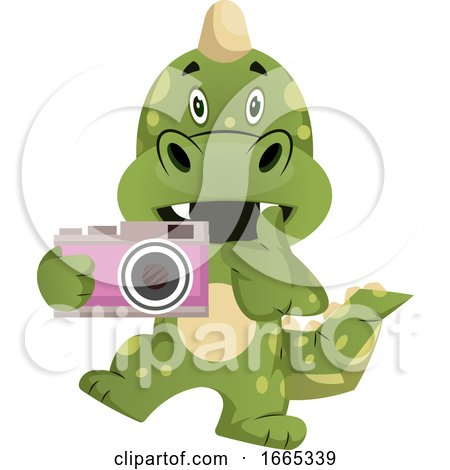 Green Dragon Is Holding Camera by Morphart Creations