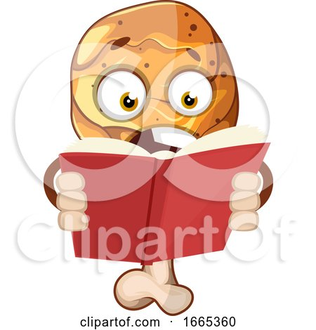 Surprised Chicken Leg Reading a Book by Morphart Creations