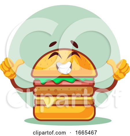 Thumbs up Happy Burger by Morphart Creations