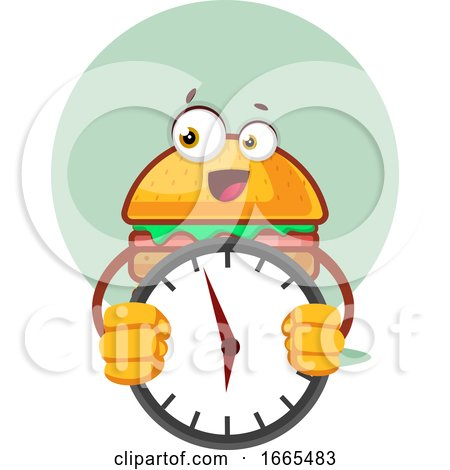 Burger Is Holding a Clock by Morphart Creations