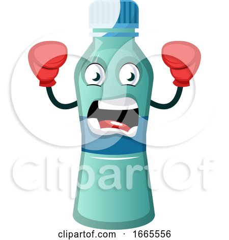 Bottle Is Wearing Boxing Gloves by Morphart Creations