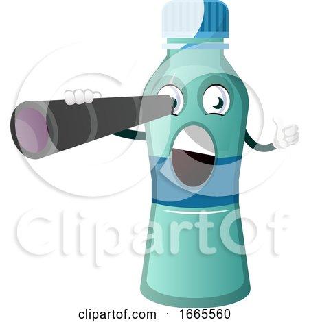 Bottle Is Holding Binoculars by Morphart Creations