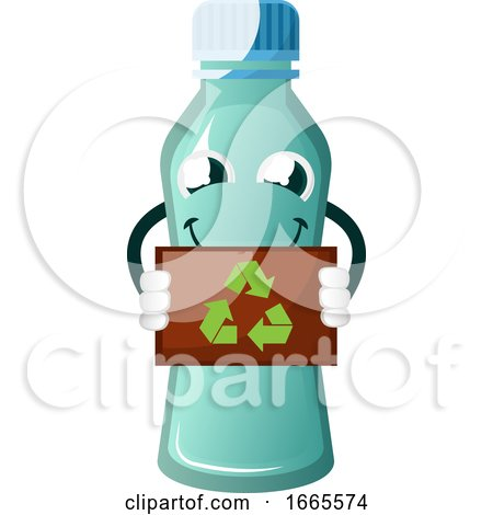 Bottle Is Holding Recycle Sign by Morphart Creations