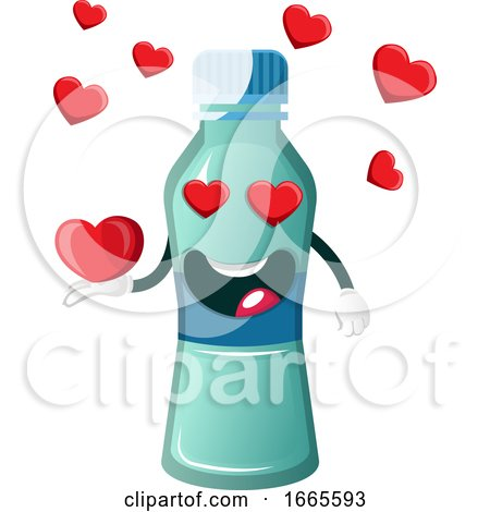 Bottle Is Holding Heart by Morphart Creations