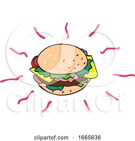 Cheeseburger Cartoon Drawing by patrimonio