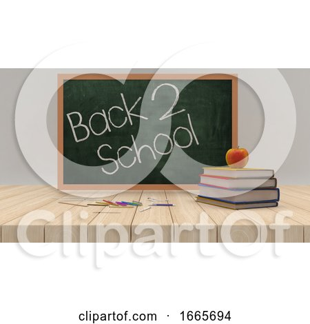 Back to School 3d Render by KJ Pargeter