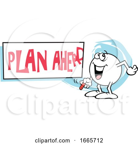 Moodie Character with a Plan Ahead Sign by Johnny Sajem