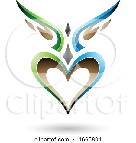 Winged Heart Logo Posters, Art Prints
