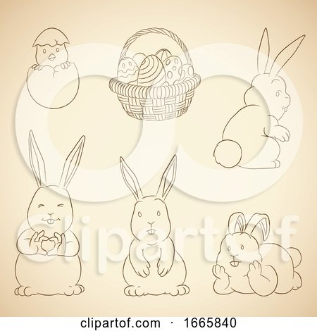 Bunny Rabbits and Easter Basket by cidepix