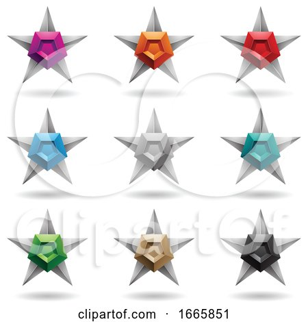Star Pentagon Icons by cidepix