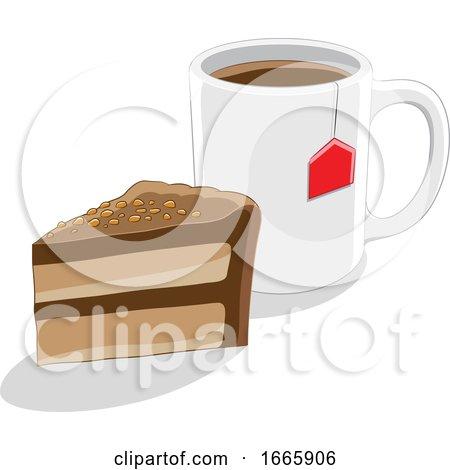 Coffee Mug and Cake Posters, Art Prints